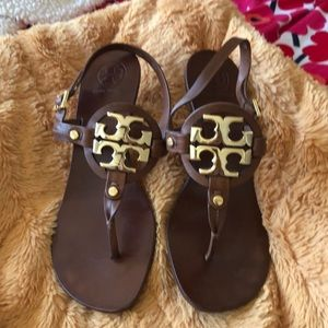 Tory Burch sandals brown leather size 10